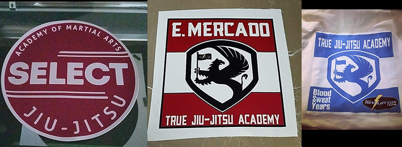 Sublimated JiuJitsu Patches with laser cut option